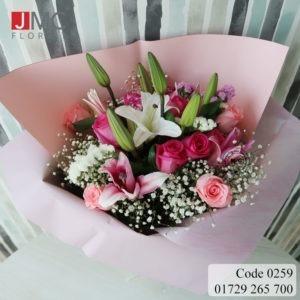 Mixed Shiny Bouquet- JMC Florist 259 - a