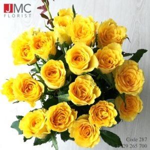 Yellow Rose Bouquet- JMC Florist 287b