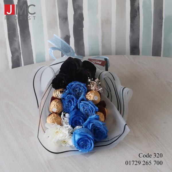 Rose Flower Boutique with Chocolate- JMC Florist 320