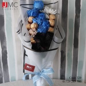 Rose Flower Boutique with Chocolate- JMC Florist 320 b